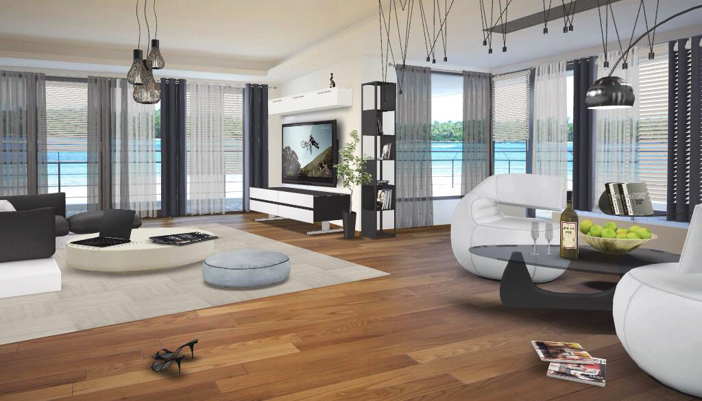 Interior design of the home in the beach
